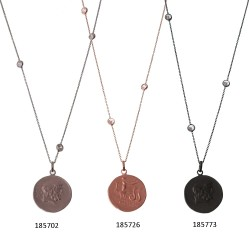 Long Necklace Coin Charm