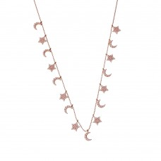 Necklace With Star & Moon