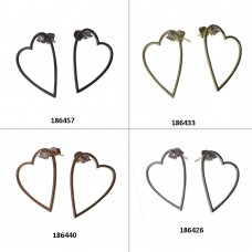 Long Earrings With Heart