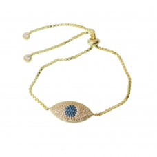 Silver Evil Eye Bracelet with  Zirconia