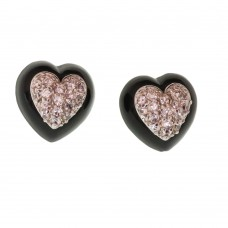 Heart Rhodium Earrings