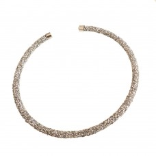 Stainless Steel and Crystal Choker