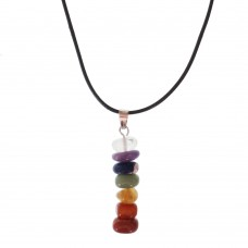 Natural Gemstone Necklace With Chakra Charm