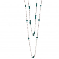 Double Necklace With Synthetic Turquoise