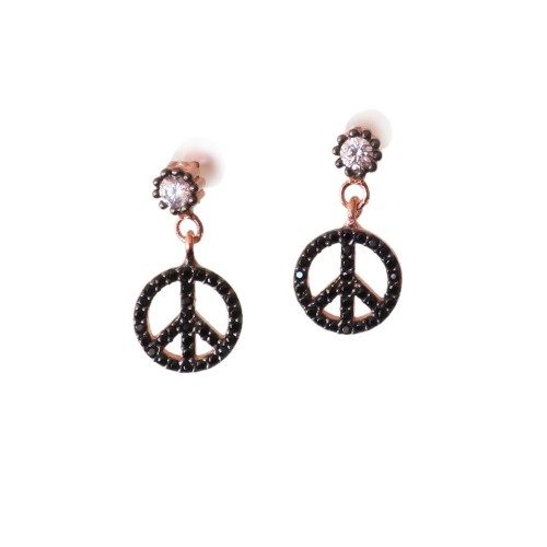 Peace And Love Silver Earrings