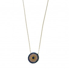 Silver Necklace With Evil Eye Charm