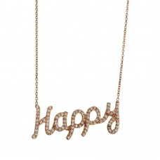 Collar Con Dije De Happy En Plata