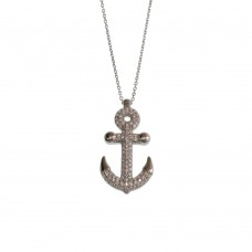 Silver Necklace With Anchor Charm