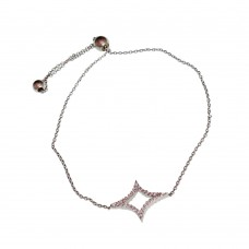 Diamond Shape Silver Bracelet