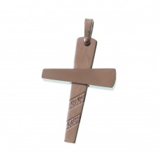 Stainless Steel Cross With Cubic Zirconia