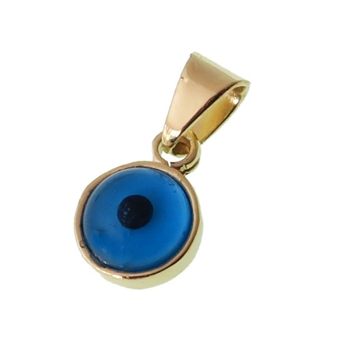 Brass Evil Eye pendant