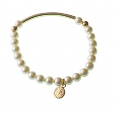 Pearl Bracelet With Virgin Mary Medal