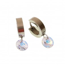 Brass Earrings With Cubic Zirconia